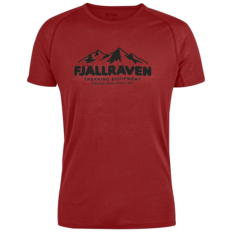 Fjällräven Abisko Trail Print 81894 Shirt, Herren XXXL Orange (Lava)