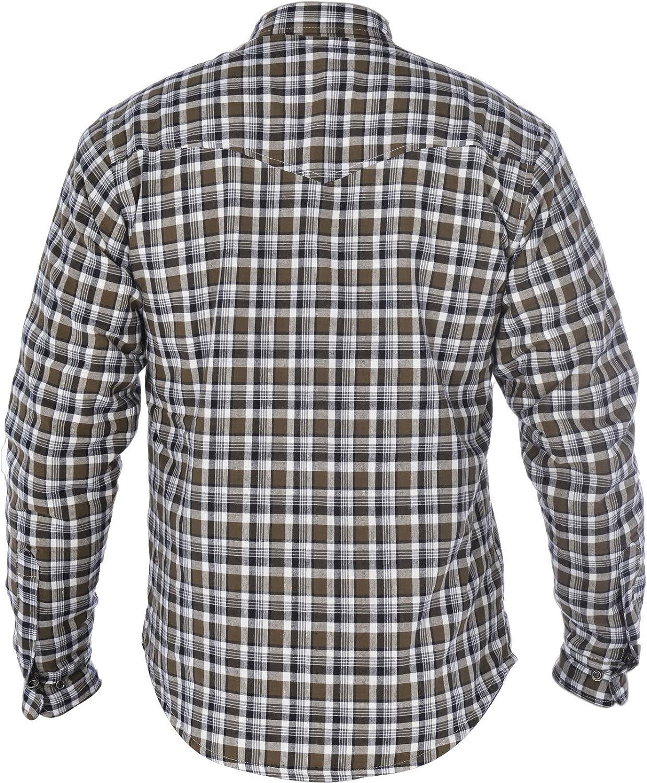 Khaki//White, Small//38 Oxford Mens Kickback Kevlar Shirt