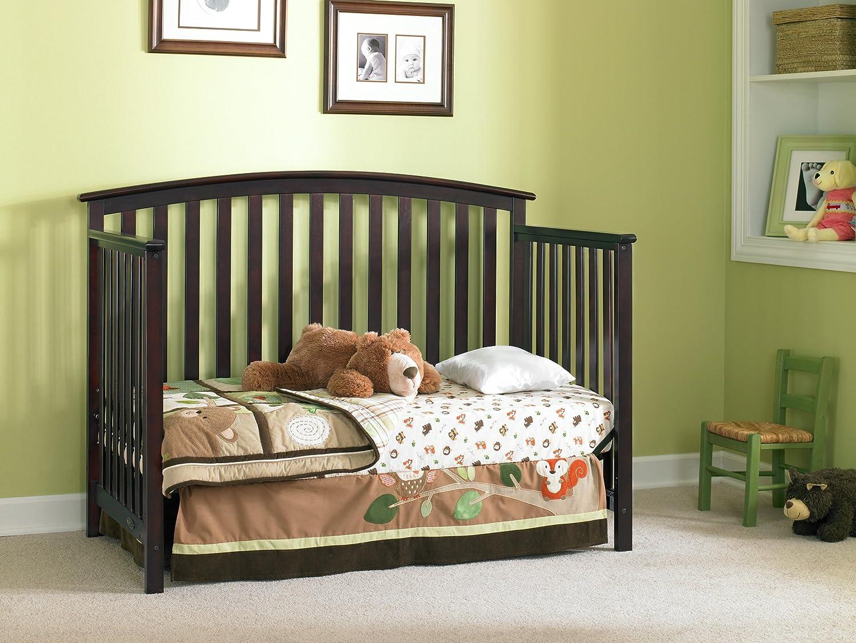 Amazoncom Graco Freeport Convertible Crib Cherry Baby - Convert crib into toddler bed