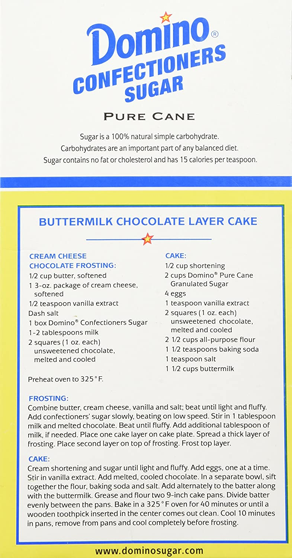 recipe: 1 cup granulated sugar to powdered sugar [22]