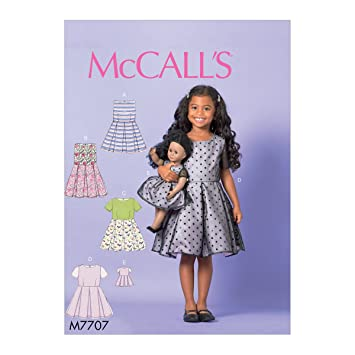 McCall \'s Patterns Kind-Mädchen 18 Puppe Kleid Schnittmuster, Tissue ...