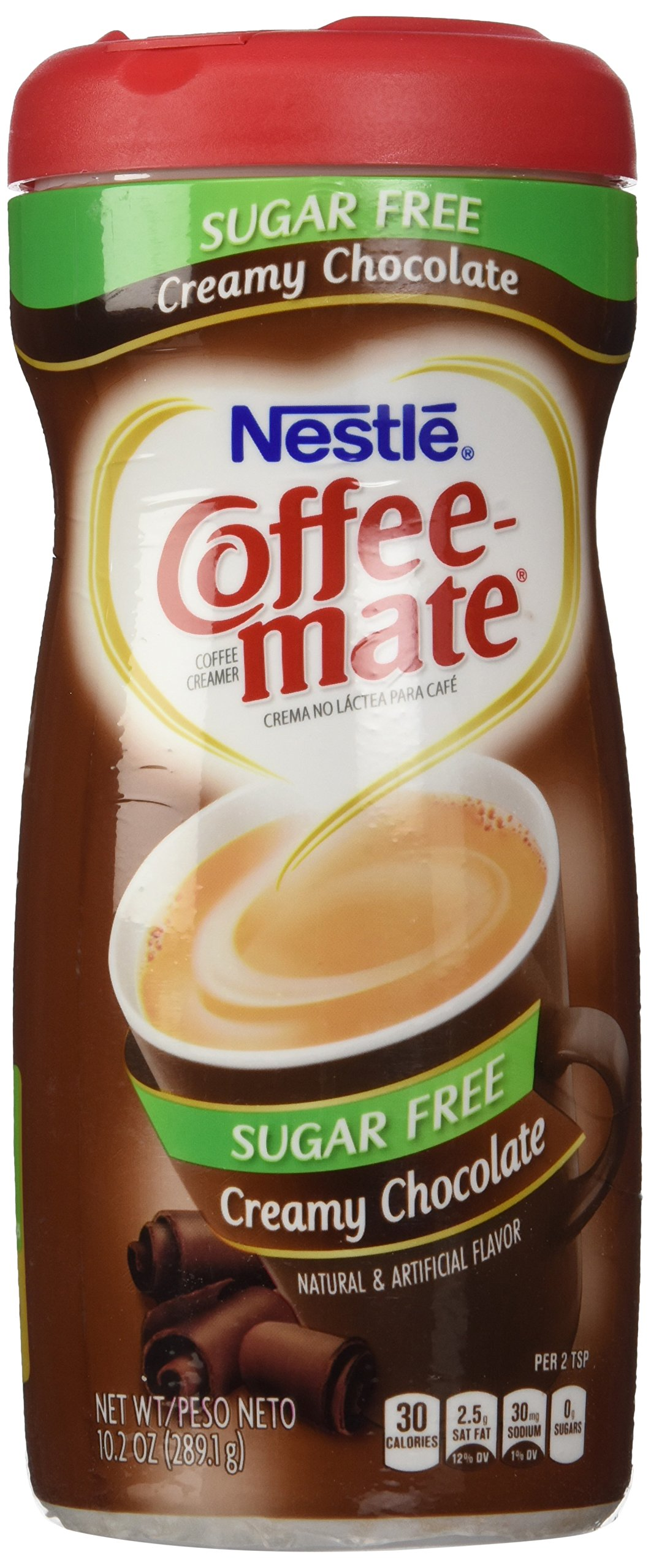 Nestle Coffee Mate Sugar Free Powdered Creamer Chocolate, 10.2 OZ (Pack of 6 by Nestl??
