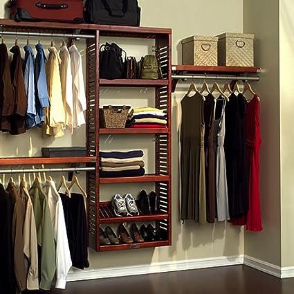 Genial John Louis Home JLH 529 Premier 12 Inch Deep Closet Shelving System, Red