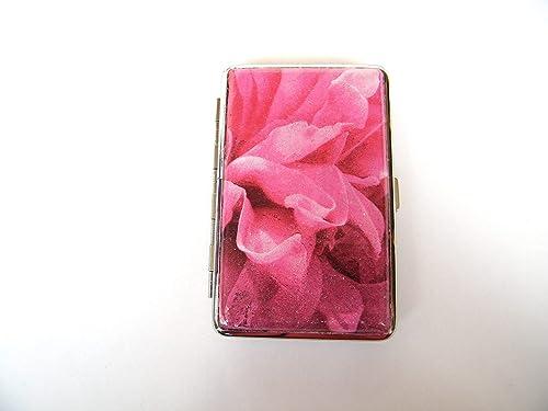 Pitillera para Mujer Dura Tarjetero Caja para Cigarrillos Slim Size Cigarrera Tabaquera Estuche Cartera Regalo Para Mujer: Amazon.es: Handmade
