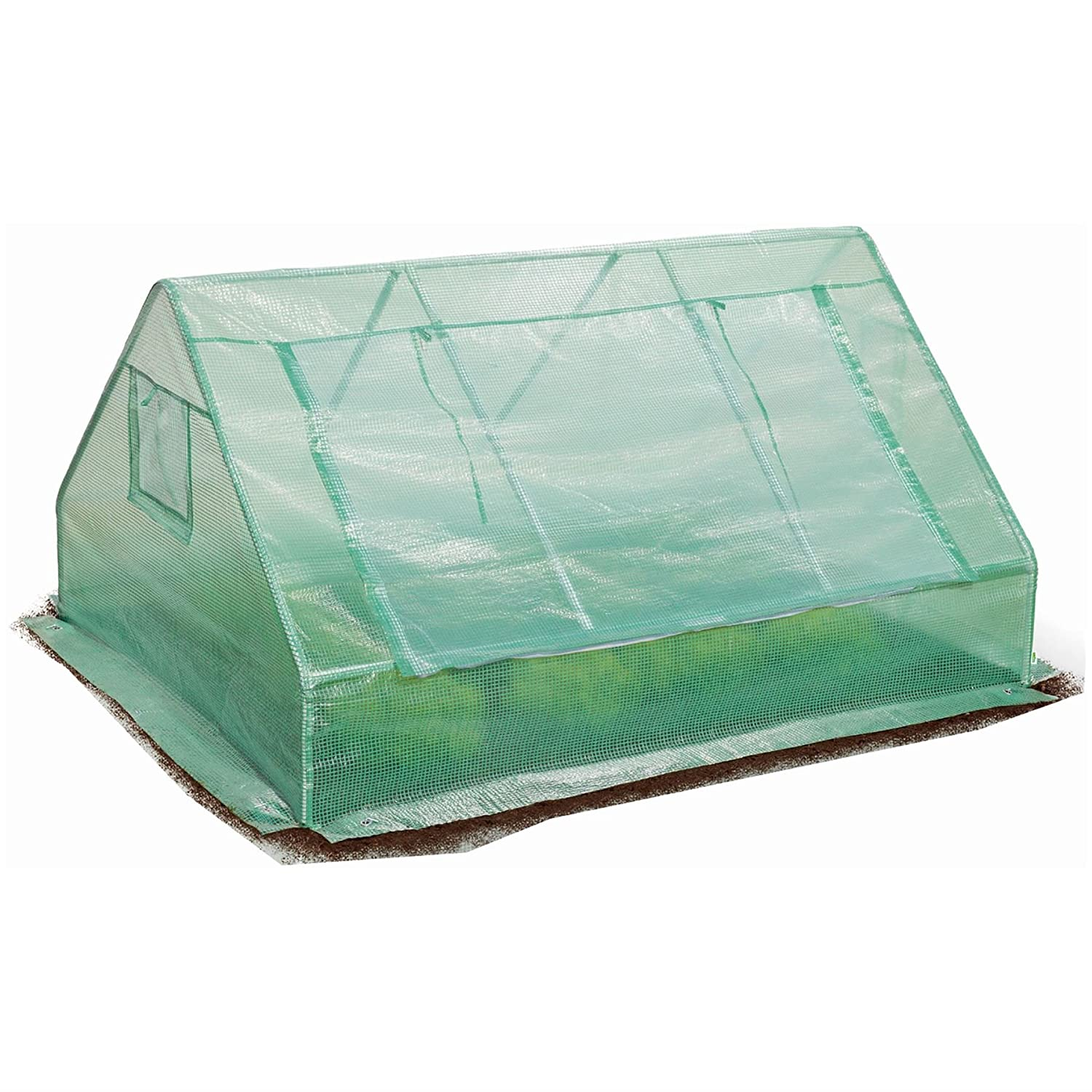 Harbour Housewares Large Ground Vegetable Greenhouse/Growbag With Strong Reinforced Cover & Side Ventilation