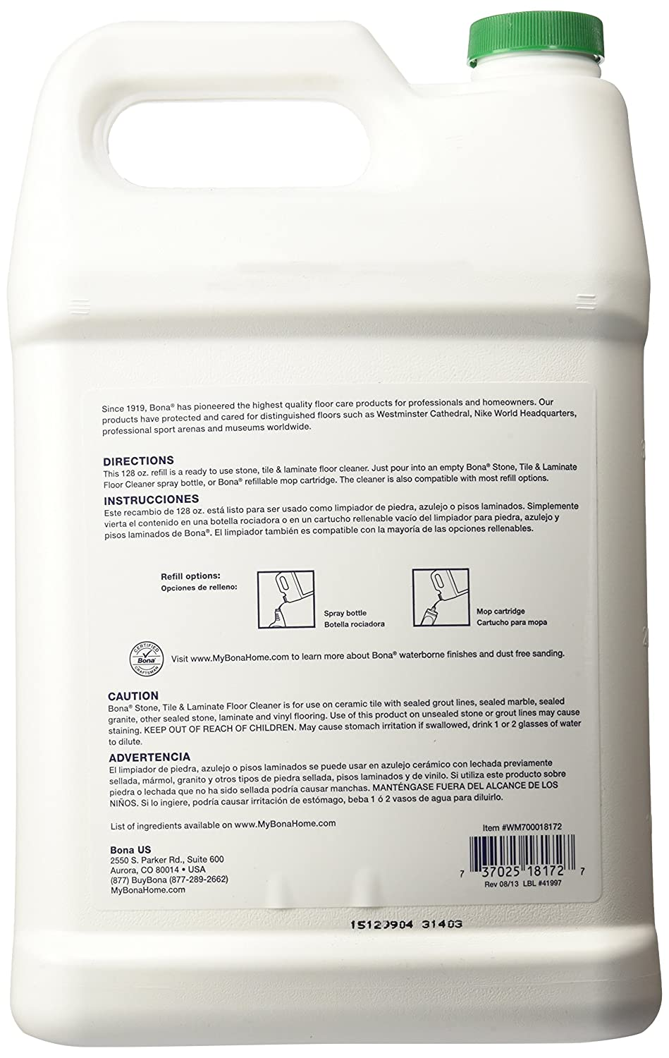 Amazon bona stone tile laminate floor cleaner refill amazon bona stone tile laminate floor cleaner refill 128oz pack may vary health personal care dailygadgetfo Gallery