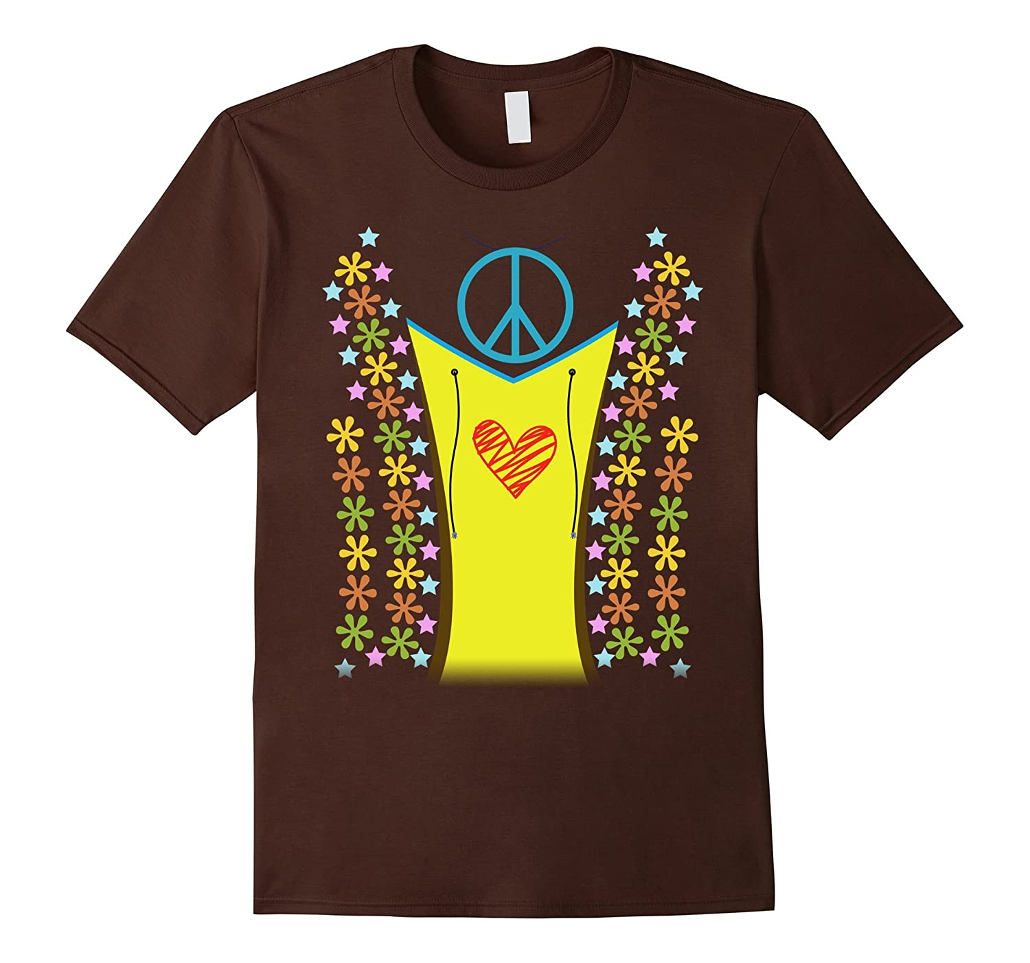 1960s Hippie Costume Shirt Halloween 1970s-FL