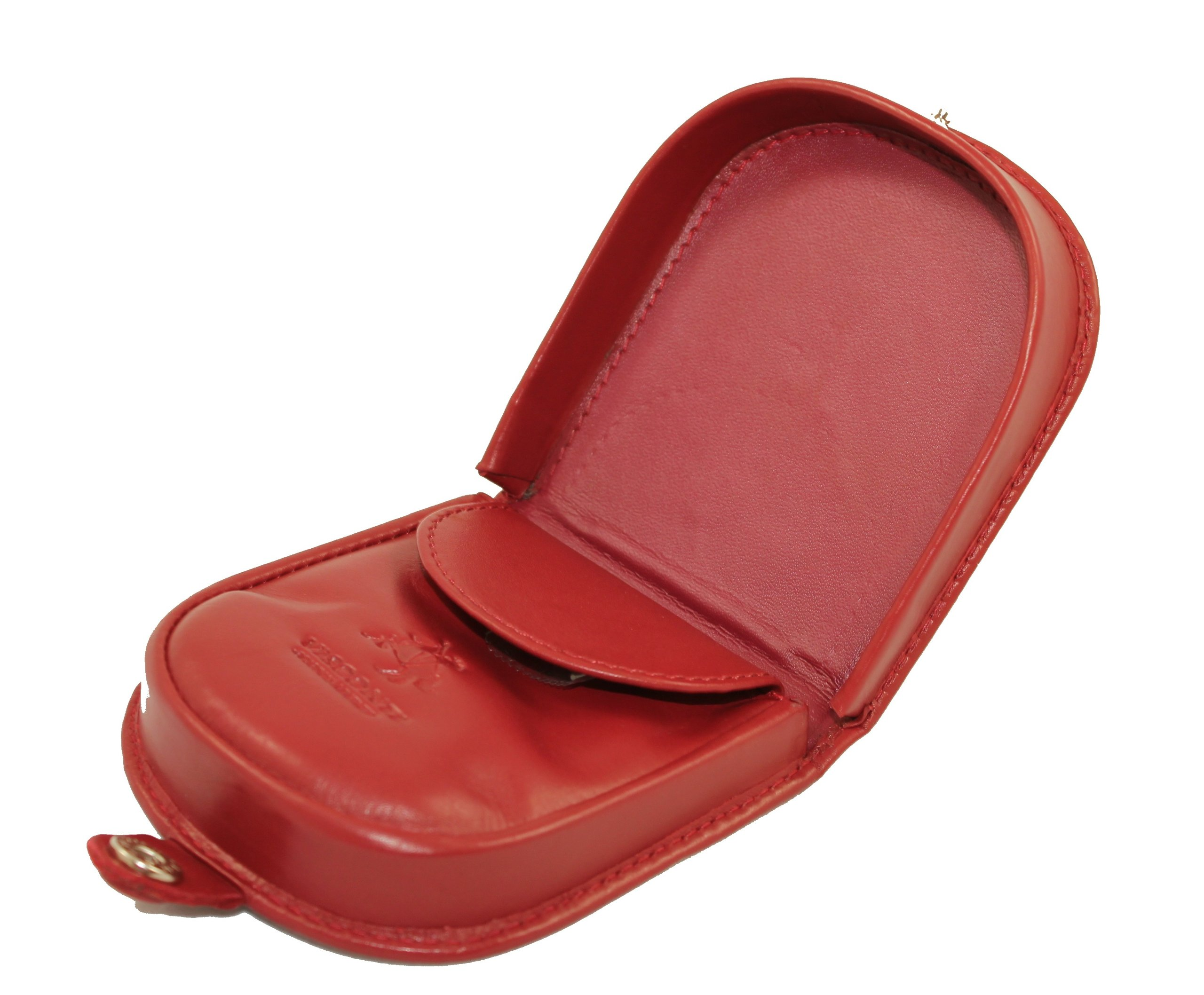 fca879eae7 Details about Visconti Polo T-5 Brown Soft Leather Coin Purse Pouch Tray/Change  Holder (Red)