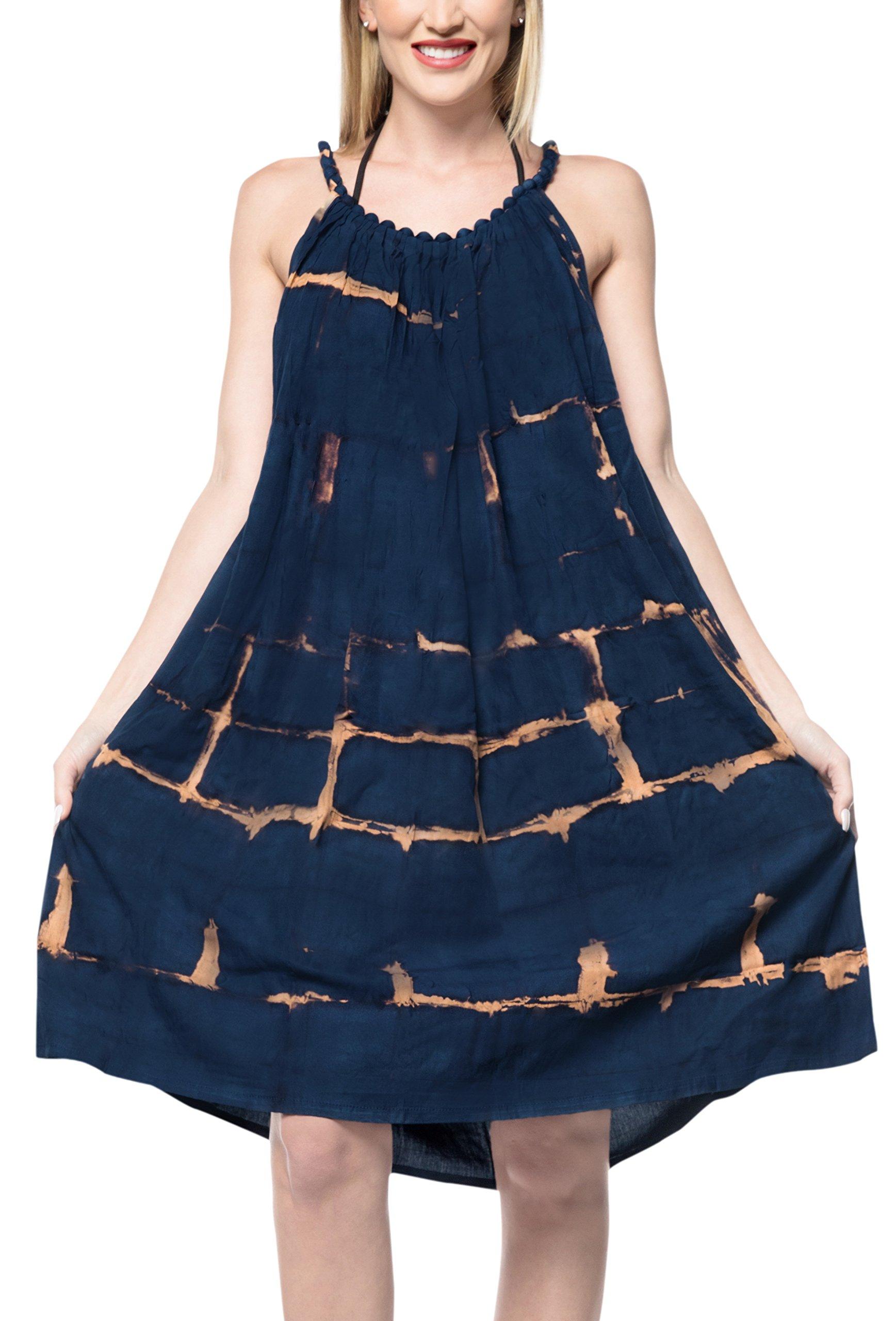 Le Leela Sundress, Navy, One Size