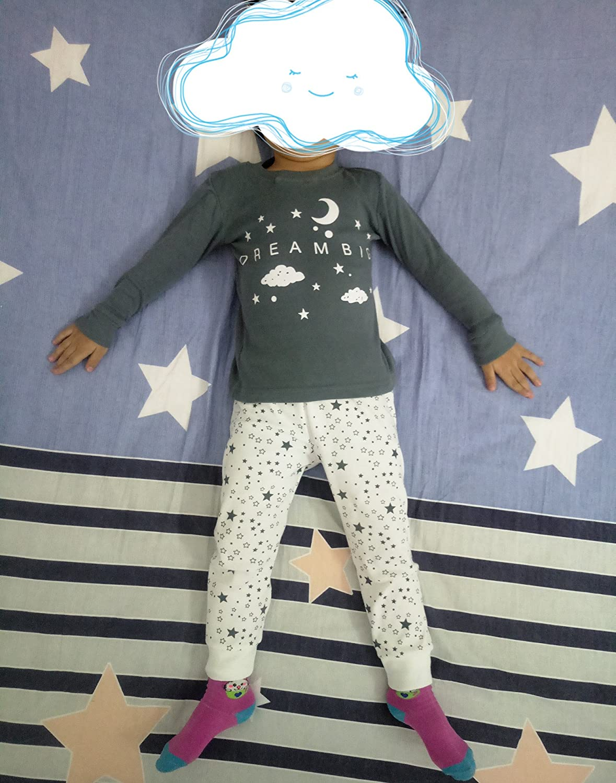 DAWILS Pijama para niñas - Manga Larga - Pijama dos piezas - Gris Luna y Estrellas Pjs 2-7 años: Amazon.es: Ropa y accesorios