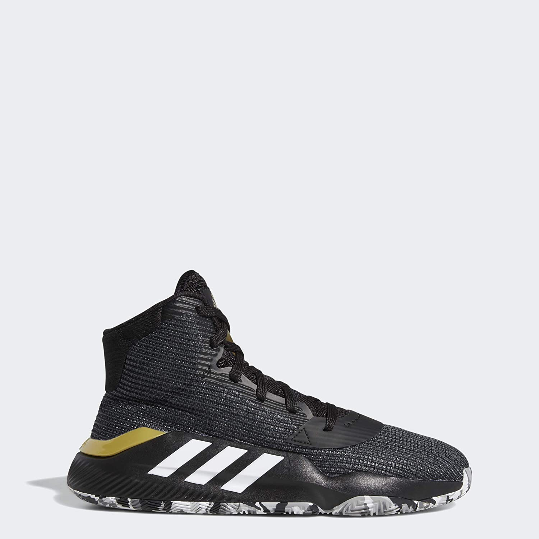 Templado Mago docena  Amazon.com: adidas Pro Bounce 2019 Black/White/Grey Basketball Shoes  (F97282): Shoes