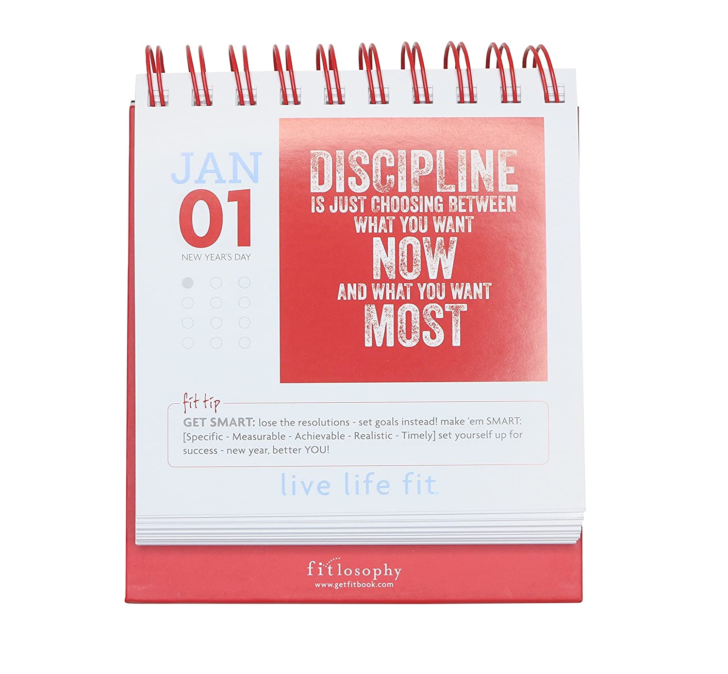 Amazon fitlosophy fitdesk 365 day perpetual calendar for daily amazon fitlosophy fitdesk 365 day perpetual calendar for daily fitness inspiration sports outdoors solutioingenieria Image collections