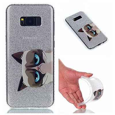 Ecoway TPU Funda Funda para Samsung Galaxy S8, Patrón de pintado de color Carcasa Antideslizante Suave Parachoques Resistente a los arañazos Contraportada Funda de silicona Parachoques Carcasa Funda - Grandes oj