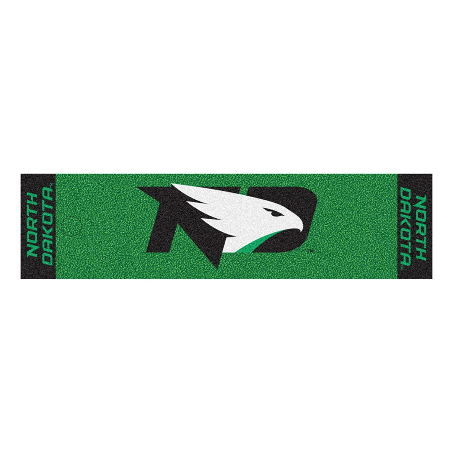 NCAA University of North Dakota Fighting Hawks Puttingグリーンマットゴルフアクセサリー   B07F1VFNJM