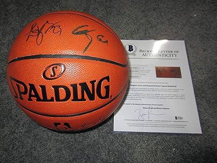 d31be846119 Draymond Green Autographed Basketball - STEPH CURRY   BAS COA - Beckett  Authentication - Autographed Basketballs