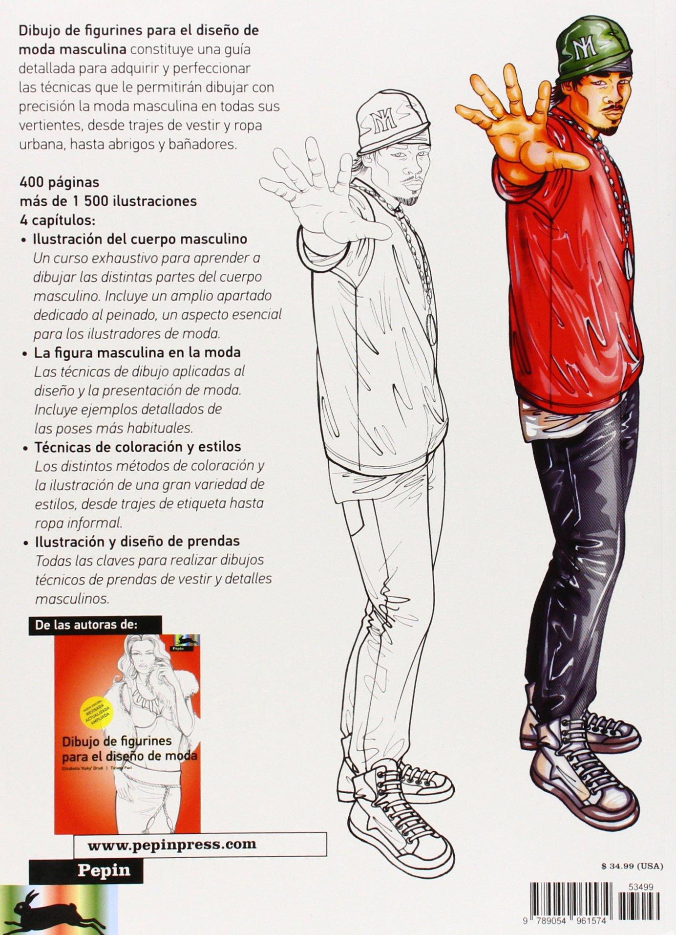 Dibujo de Figurines Para El Diseno De Moda Masculina: Elisabetta Drudi: 9789054961574: Amazon.com: Books