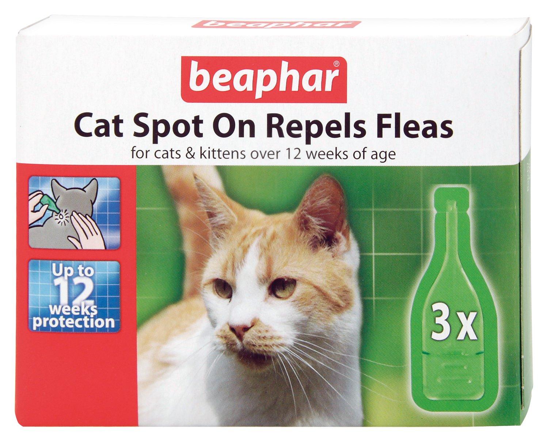 beaphar cat kittens spot on treatment repels fleas 12. Black Bedroom Furniture Sets. Home Design Ideas