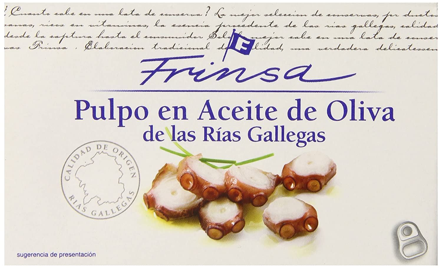 Amazon.com : Frinsa Octopus in Olive Oil, 4-Ounce : Fish Seafood : Grocery & Gourmet Food