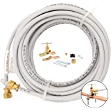 PEX Ice Maker Installation Kit – 25 Feet of Tubing For Appliance Water Lines With Self Piercing Saddle Valve For Quick Instal