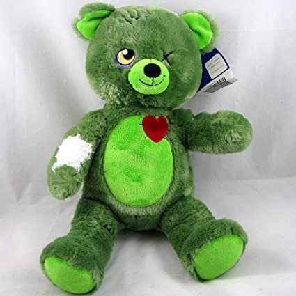 c142ecb99d10 Amazon.com  Build a Bear Zombear Teddy Green Halloween 16 in. Stuffed Plush  Toy Animal  Toys   Games