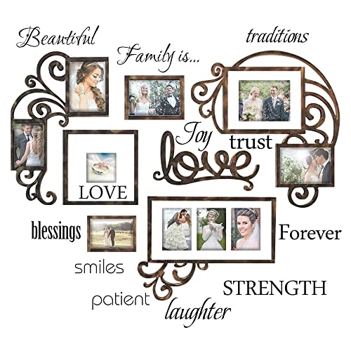 luckkyy family wall decal set of 12 family words quote vinyl family wall
