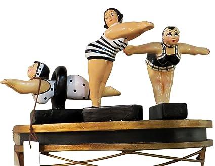 93e2965684 Amazon.com  My Swanky Home Whimsical Bathing Beauty Retro Swimmer ...
