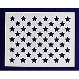 """50 Star Field Stencil 14 Mil -9""""H X 11.5L"""" - Painting /Crafts/ Templates"""
