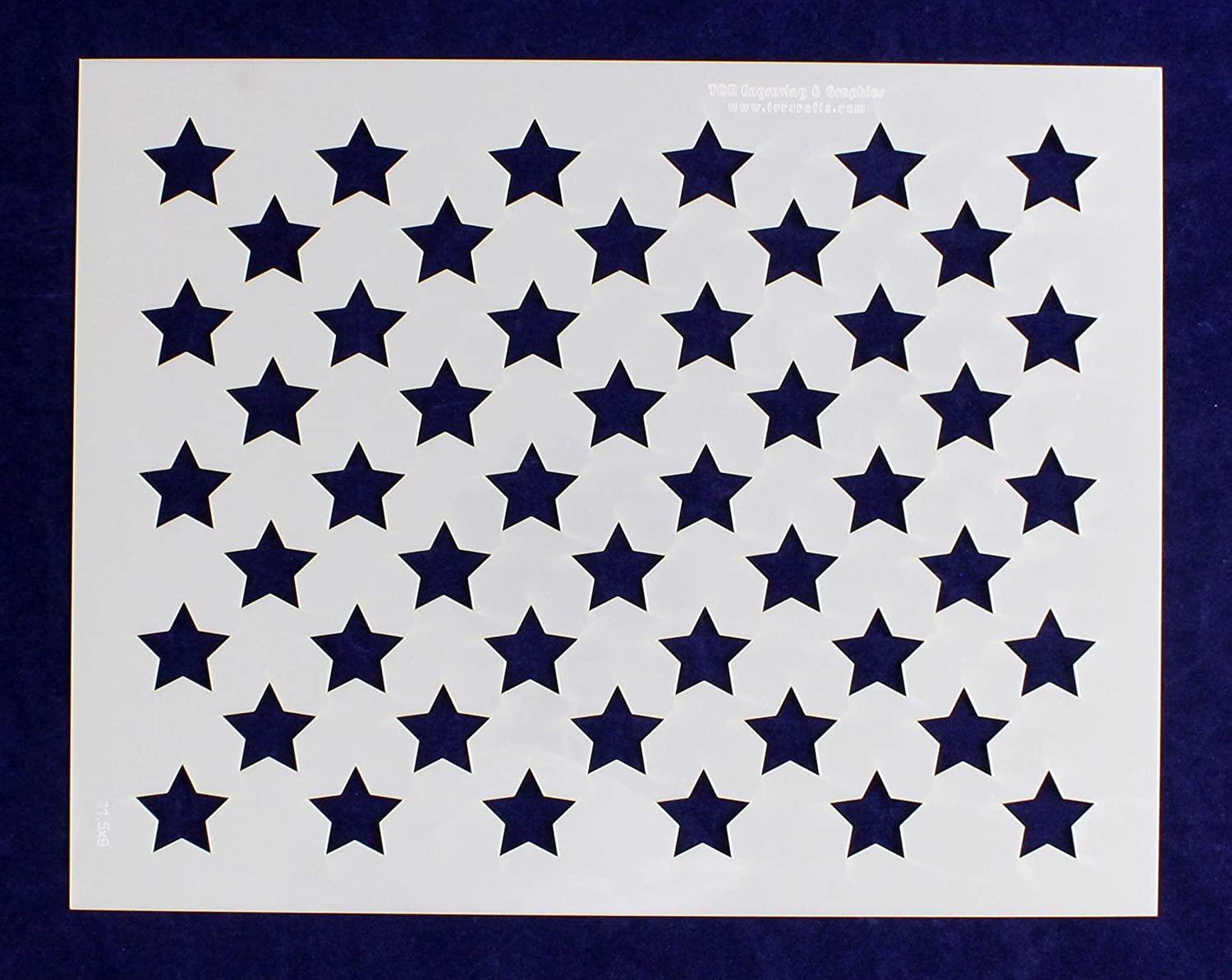graphic regarding Printable American Flag Star Stencil referred to as 50 Star Business Stencil - US/American Flag - 9\