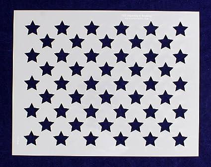 Amazon Com 50 Star Field Stencil Us American Flag 9 H X 11 5l