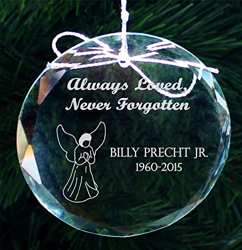 Personalized Memorial Christmas Ornament, Handmade Crystal Ornaments -  COR002 - Amazon.com: Personalized Memorial Christmas Ornament, Handmade