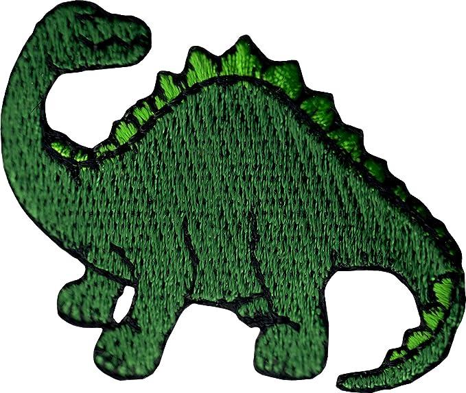 Amazon.com: Green Dinosaur - Brachiosaurus - Embroidered Sew or Iron on Patch: Clothing