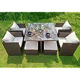 WEATHERPROOF Outdoor Patio 9-piece Furniture Dining Set, All-Weather Wicker