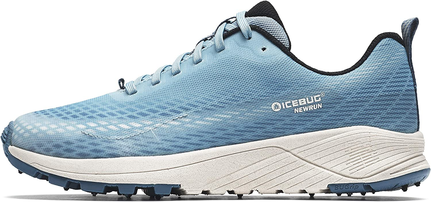 Icebug Womens NewRun BUGrip Road Running Shoe with Carbide Studded Traction Sole