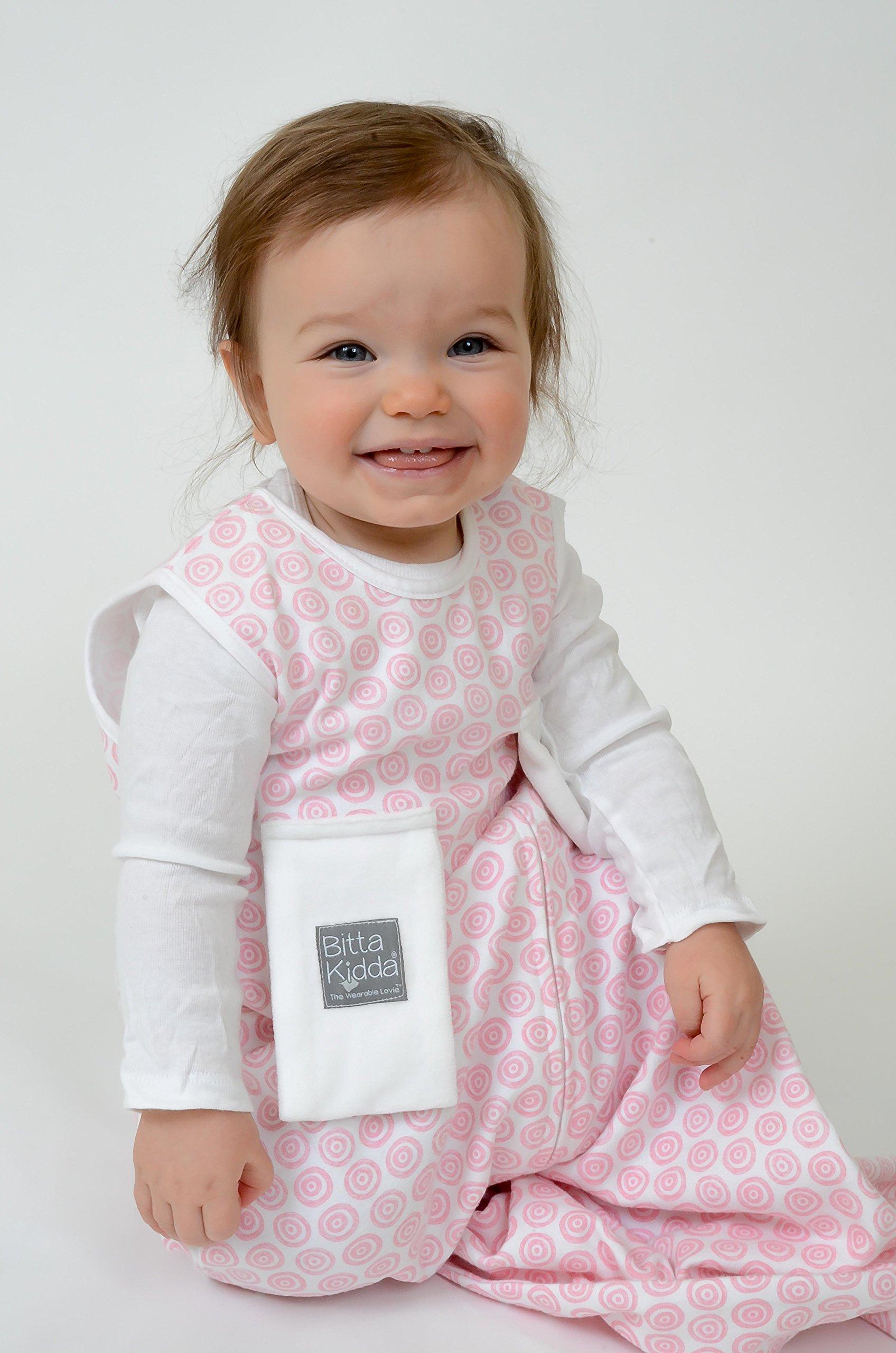 Bitta Kidda Baby Soother Sleeping Bag Wearable Blanket + Lovey - Pink Circles 9M