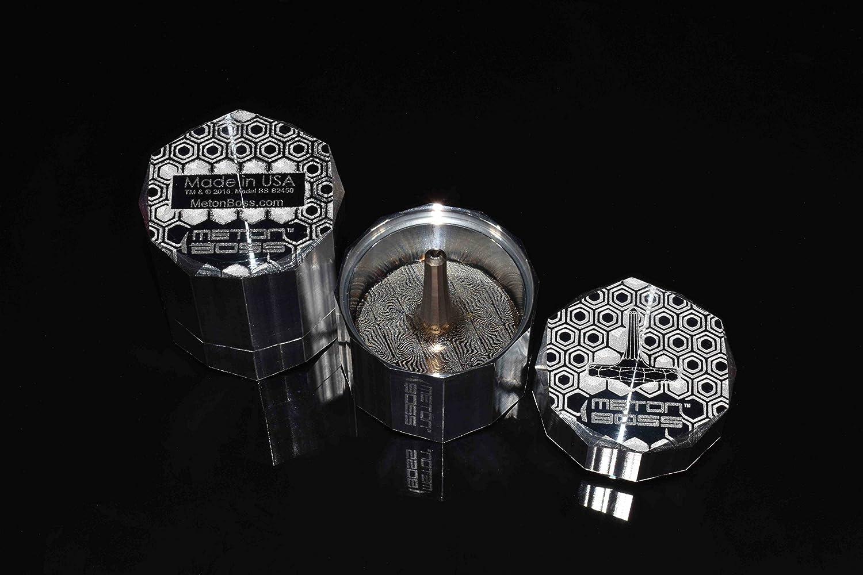 Aerospace Grade 5 Titanium Anodized Golden Magenta MetonBoss MOKUME-Gane Roman Titanium Spinning Top