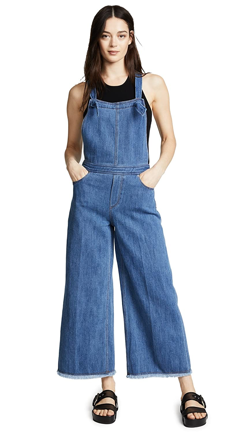 Elizabeth and James Women's Jennette Jumpsuit Medium Denim 6