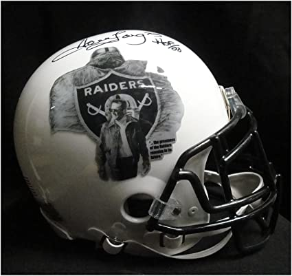 cb8b6eff0a3 Howie Long Signed Full Size Authentic Helmet Oakland Raiders Custom White  JSA