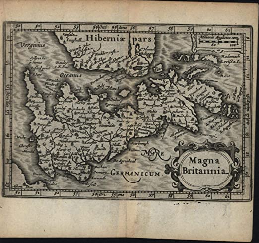 Ancient Map Of Ireland.Amazon Com Great Britain Oriented Sideways Ireland 1639 Blaeu