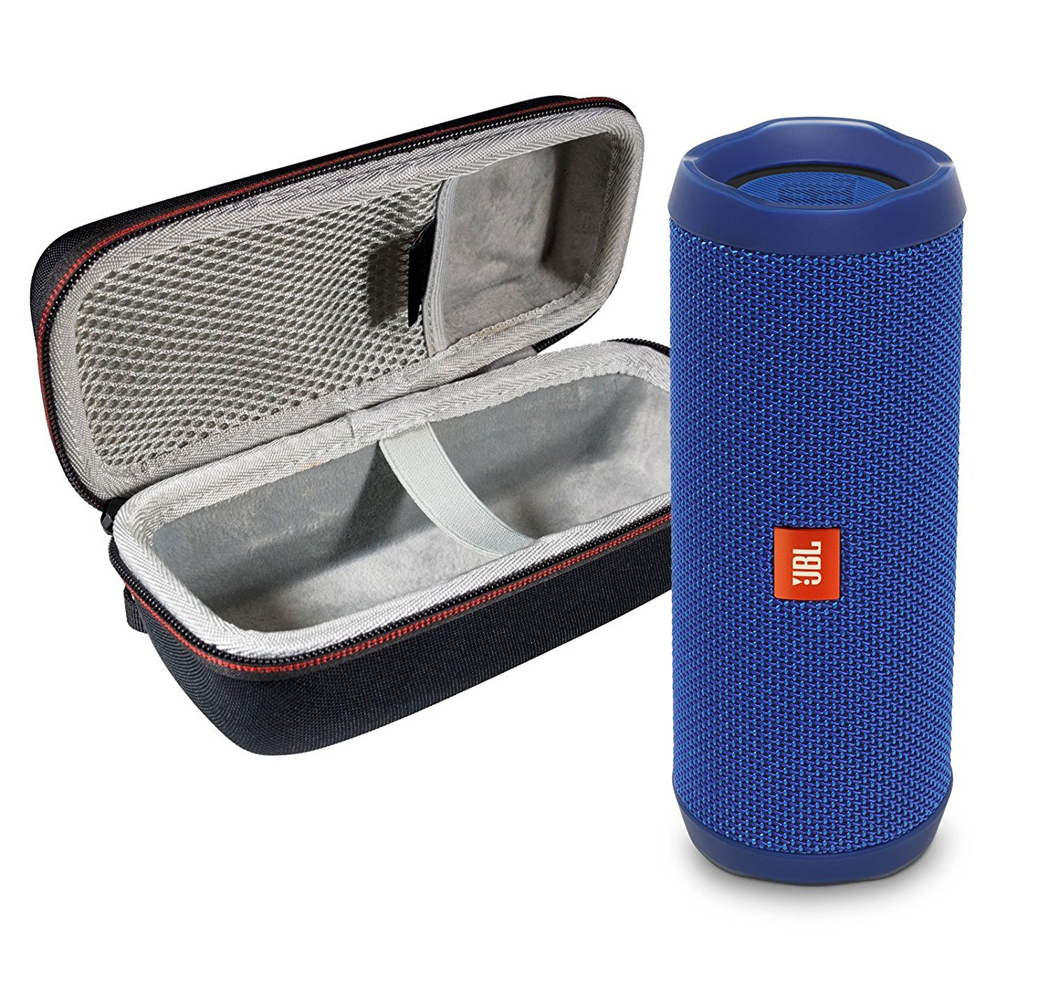 JBL Flip 4 Portable Bluetooth Wireless Speaker Bundle with Protective Travel Case - Blue by JBL
