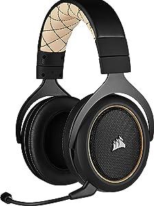 Corsair HS70 PRO Wireless - Auriculares para juegos, hasta 12 metros de alcance inalámbrico, Color Crema (EU)