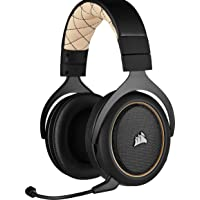 Corsair HS70 PRO Wireless Cuffie Gaming con Microfono, Audio 7.1 Surround, Wireless 2,4GHz a Bassa Latenza, 12 metri di Portata, Cancellazione del Rumore Microfono con PC, PS4 Compatibilità, Cream