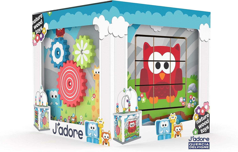 Jadore Big Wooden Zoo Animal 5-in-1 Activity Cube Center