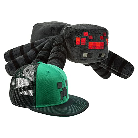 JINX Minecraft Plush Spider and Creeper Face Snap Back Hat  sc 1 st  Amazon.com & Amazon.com: JINX Minecraft Plush Spider and Creeper Face Snap Back ...