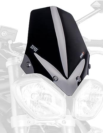 Puig 5658n Windschutzscheibe Naked New Generation Sport Schwarz Auto