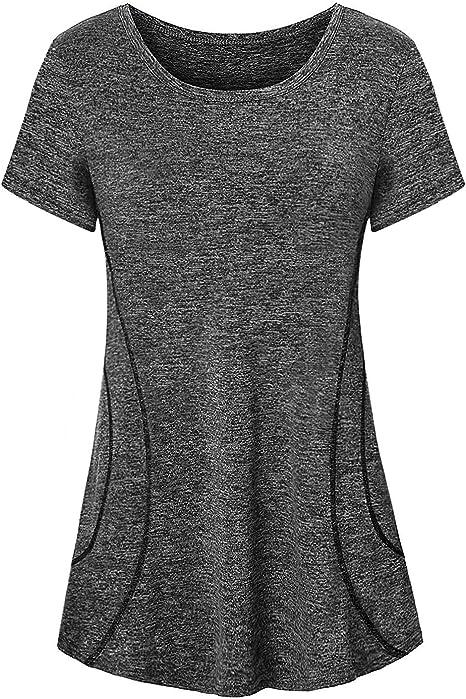Amazon.com: Cucuchy - Camiseta de yoga para mujer, manga ...