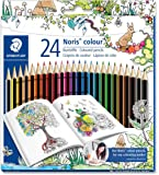 Staedtler 185 C24JB Noris Coloured Pencil, Johanna Basford Design - Assorted Colours, Pack of 24