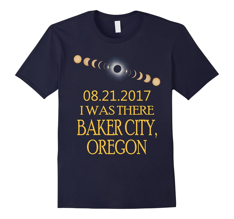 Baker City Oregon Total Solar Eclipse 2017 T Shirt-BN
