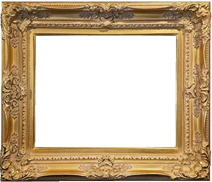 1ca2d136f7c3 Image Unavailable. Image not available for. Color  4.5 quot  Wood Picture Frame  Antique Gold Ornate Photo Museum Oil Painting ...