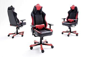 Dx racer fauteuil de bureau noir rouge m série amazon cuisine