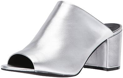 e0b699b7ec6 Steve Madden Women s Infinity Mule Silver Leather 6.5 ...